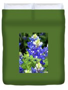 Bluebonnets Blooming Duvet Cover
