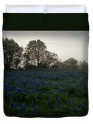 Bluebonnets On A Hazy Morning Duvet Cover