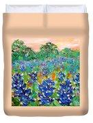 Bluebonnets Sunrise Duvet Cover