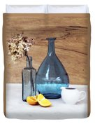 Blues And Oranges Duvet Cover