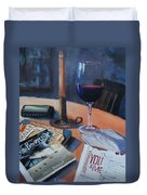 Blues And Wine Duvet Cover