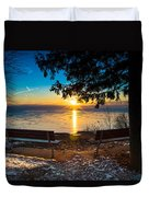 Bluff  Benches Duvet Cover