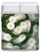 Blurred Daisies Duvet Cover