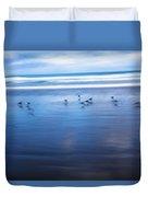 Blurry Bird Beach Duvet Cover