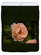 Blush Pink Rose With Dew Duvet Cover