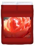 Blushing Orange Rose 2 Duvet Cover