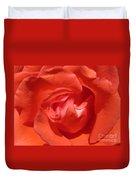 Blushing Orange Rose 5 Duvet Cover