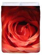 Blushing Orange Rose 3 Duvet Cover
