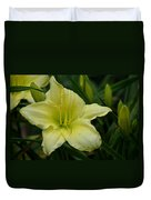 Blushing Yellow - Lilies Duvet Cover