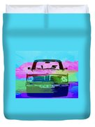 Bmw 2002 Front Watercolor 1 Duvet Cover by Naxart Studio