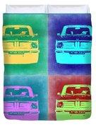 Bmw 2002 Pop Art 1 Duvet Cover by Naxart Studio