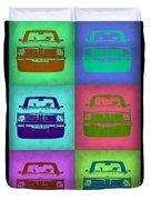 Bmw 2002 Pop Art 2 Duvet Cover by Naxart Studio