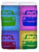 Bmw 2002 Pop Art 3 Duvet Cover by Naxart Studio
