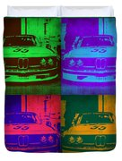 Bmw Racing Pop Art 1 Duvet Cover by Naxart Studio
