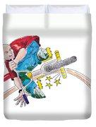 Bmx Drawing Peg Grind Duvet Cover
