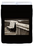 Boardwalk Bench Duvet Cover