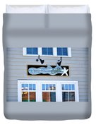 Boardwalk Cafe Duvet Cover