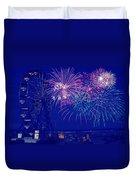 Boardwalk Fireworks Duvet Cover