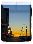 Boardwalk House Of Blues At Sunrise Duvet Cover