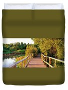 Boardwalk In A Forest, Magee Marsh Duvet Cover