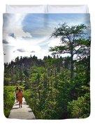 Boardwalk In Salmonier Nature Park-nl Duvet Cover
