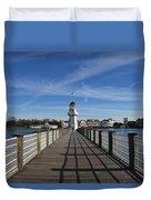 Boardwalk Lighthouse Duvet Cover