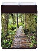 Boardwalk On The Rainforest Trail In Duvet Cover