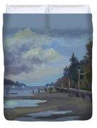 Boardwalk On Vashon Island Duvet Cover