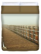 Boardwalk To The Unknown Duvet Cover