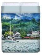 Boat - A Good Day To Sail Duvet Cover