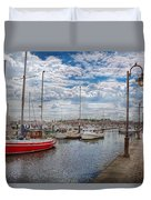Boat - Baltimore Md - One Fine Day In Baltimore  Duvet Cover