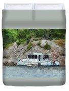 Boat Break Duvet Cover