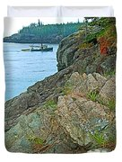 Boat By East Quoddy Bay On Campobello Island-nb Duvet Cover