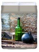 Boat Deck Still Life Duvet Cover