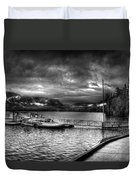 Boat Dock At Sperry Chalet 2 Duvet Cover