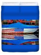 Boat For Freedom  Duvet Cover