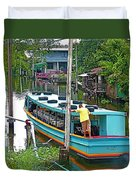 Boat For Transportation On Canals In Bangkok-thailand Duvet Cover