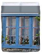 Boat House Windows Duvet Cover