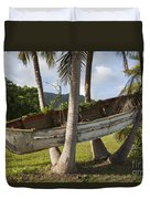 Boat In A Tree Puerto Rico Duvet Cover