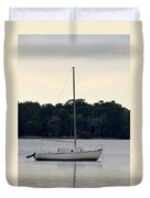 Boat On Calm Waters Duvet Cover