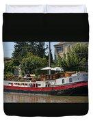 Boat On Canal Du Midi Homps France Dsc01717  Duvet Cover