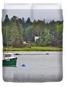 Boat On Cove In Glen Margaret-ns  Duvet Cover