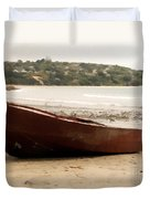 Boat On Shore 02 Duvet Cover