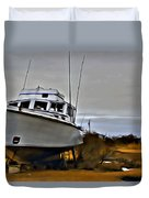 Boat Out Of Water Duvet Cover