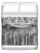 Boat Reflection Duvet Cover