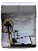 Boat Reflections Duvet Cover