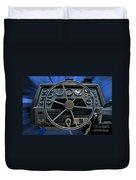 Boat Steering Wheel Duvet Cover