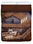 Boat - Tuckerton Seaport - Hotel Decrab  Duvet Cover