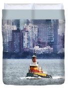 Boat - Tugboat By Manhattan Skyline Duvet Cover