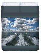 Boat Wake 01 Duvet Cover